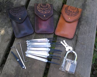 Lockpick tool kit with handmade leather case Nightingale thieve guild