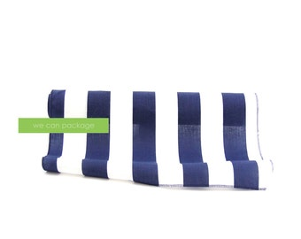 "Navy and White Striped Table Runner 18"" x 108"" Cotton"