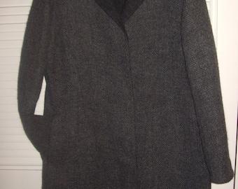 Coat 10 , FIVE STAR Vintage Cole Haan Elegant Career Coat - Tweedy Woven Coat - Size 10
