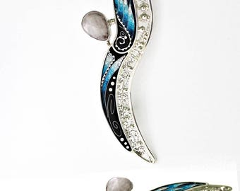 """Brooch """"Angel"""", handmade, unique, silver"""