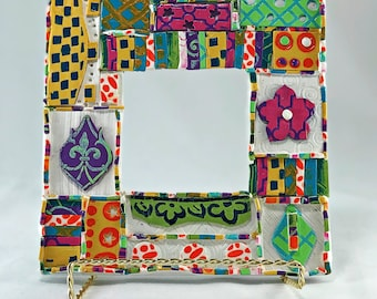 Crazy Multi Colored Mosaic Picture Frame – Polymer Clay