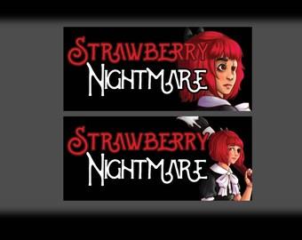 Strawberry Nightmare Logo Stickers