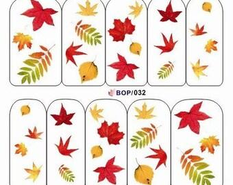 BOP-032 Nail Art Water Decal Nail Art Water Transfer Sticker DIY Nail Art