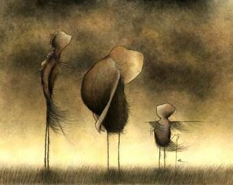 Many Standing Mysteries - fine art print