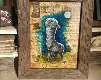 Moon calf oid painting