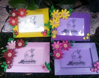 1 picture frame - handmade - best favor ever - moosgummy - choose the color!