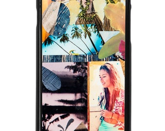 NEW iPhone 7/7+ Case, Aloha Orchid, Hawaii, Aloha, Beach, Palms, Orchid, Hula Girl, Tropical, Art, Avail. with Black or White case color