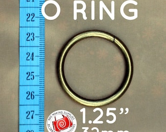 6 Pieces 1.25 inch / 32mm O Rings (available in antique brass and nickel finish)