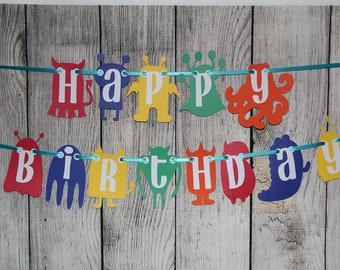Monster Birthday Banner