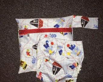 Pirates Cloth Diaper and Wet Bag