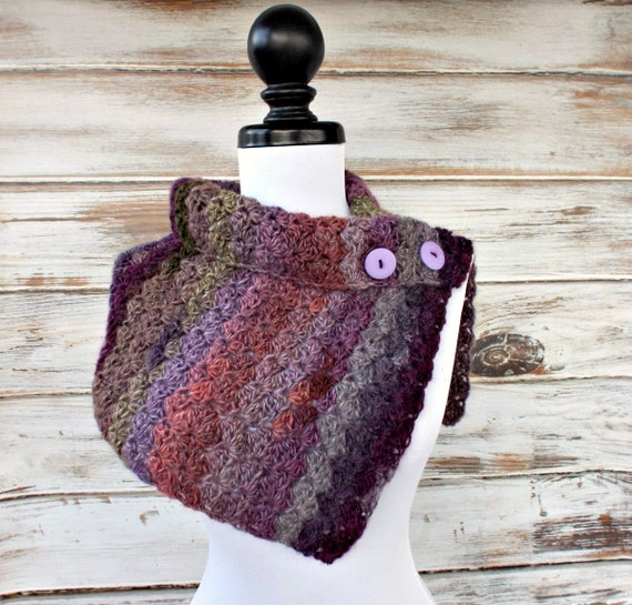 Instant Download Crochet PATTERN PDF - Womens Cowl Pattern Crochet Scarf Pattern - Eloise Cowl Capelet Pattern Womens Accessories