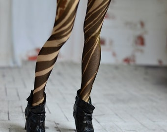 Tights zebra for doll 1/4 slim msd minifee