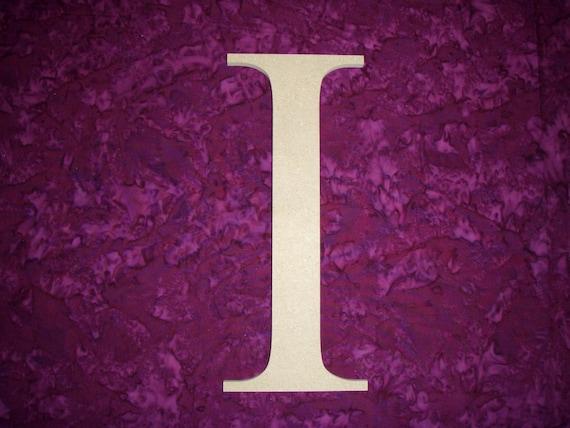 Greek Letter I Iota Symbol Wooden Letters 12 Inch Tall