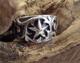Lone Star sterling silver ring