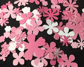 Shades of Pink Flower Confetti - Diecuts 100 Count