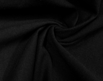 """Black Cotton Jersey Lycra Spandex Knit Stretch Fabric 58/60"""" wide All colors"""