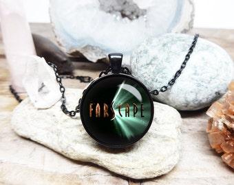 farscape logo necklace John Crichton necklace farscape pendant farscape fan necklace sci fi jewelry moya necklace farscape tv show fan art