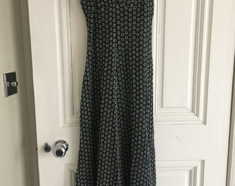 1970's evening dress full length uk size 8