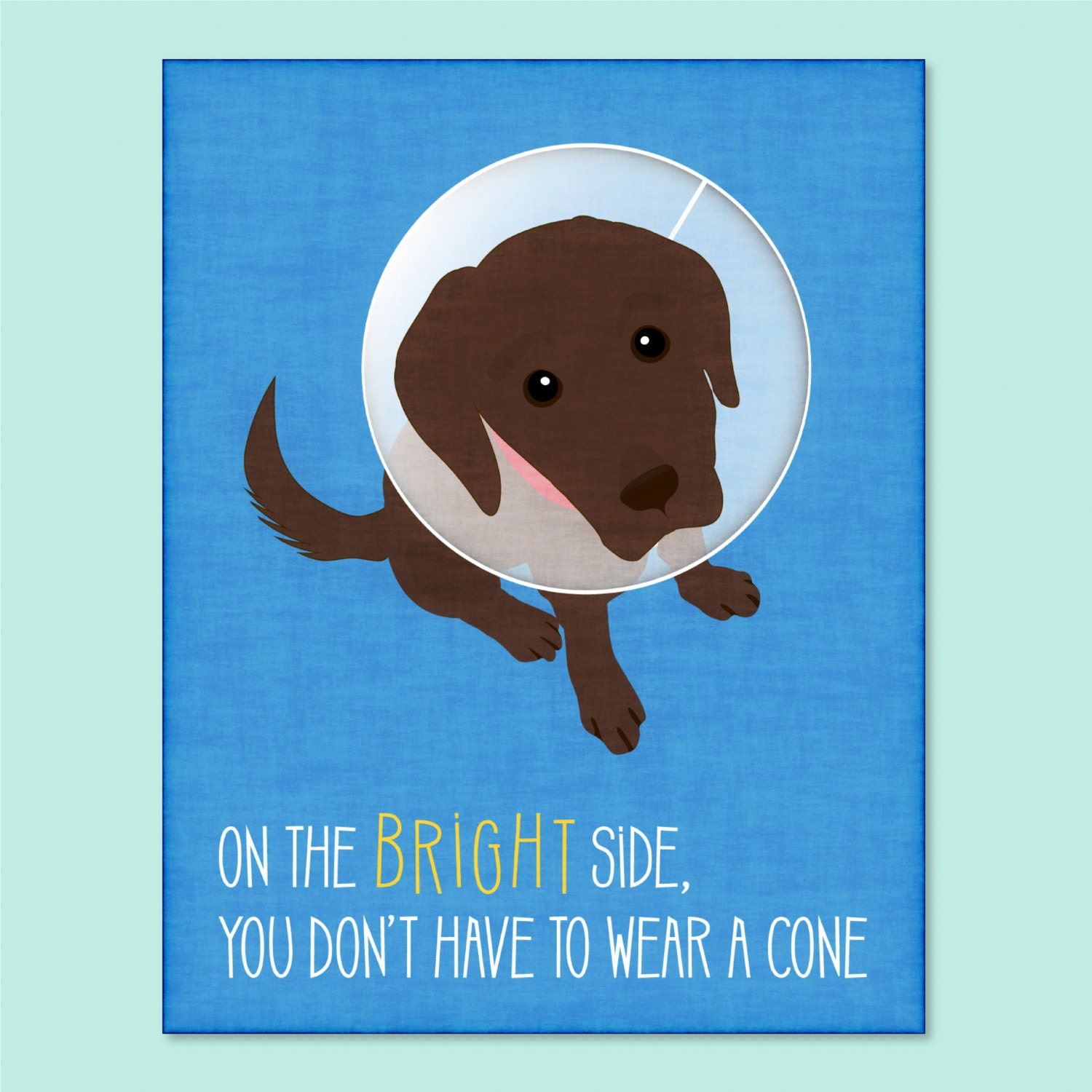 Brand-new Funny Dog Greeting Card get well soon card funny get well DD36