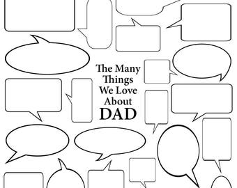 The Many Things We Love About Dad - Vector Art