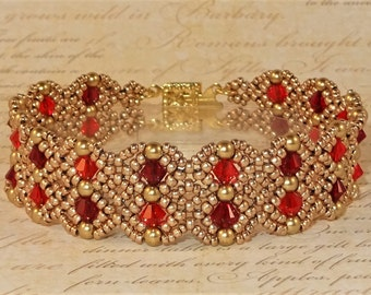 DIGITAL TUTORIAL - Annabelle's Lace Bracelet Tutorial - Beaded Bracelet - Beadweaving Tutorial - Instant Download