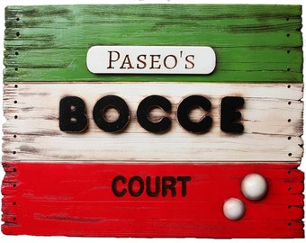 Personalized Bocce Sign Large Size