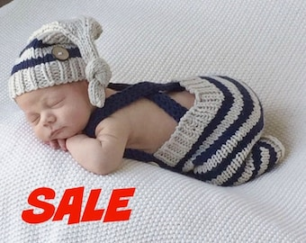 HUGE SaLE TODAY.....Baby Pixie Hat and Pants, Suspenders, Elf Hat, ,Newborn Photo Prop ,RTS,  Baby Outfit, Baby Photo Prop. Baby Boy Outfit,