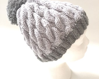 knitting pattern  easy cable hat