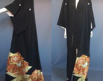 Vintage 1970s Tomesode kimono / Art Deco 1930s style