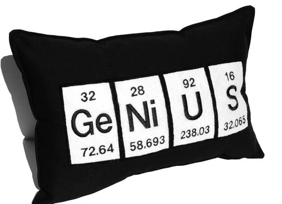 Genius periodic table embroidered science chemistry black like this item urtaz Choice Image