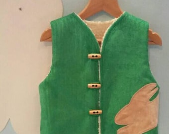 Green Bunny Waistcoat