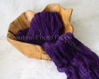 Grape Purple Cheesecloth Baby Wrap Cheese Cloth Newborn Photography