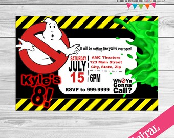 DIGITAL Ghostbuster invitation