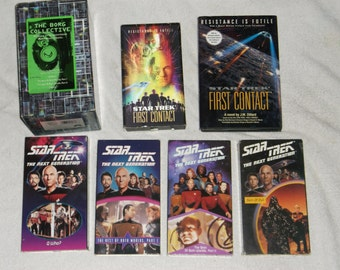 VHS-star trek-lot of 6-borg collection-1990s-GD