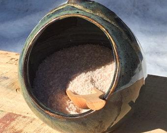 Handmade Pottery Salt Cellar/Salt Pig