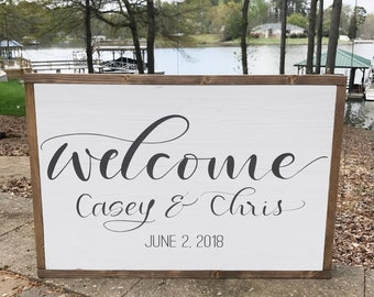 Custom Welcome Sign - Welcome Wedding Sign - Welcome Sign - Wedding Sign - Wedding Decor - Reception Decor - Wooden Wedding Sign