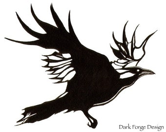 Temporary Tattoo Raven