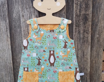 Woodland Friends girls/baby dress