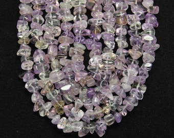 Approx 64pcs/str,Natural Amethyst Small Nugget Beads,Drilled Smooth Raw Quartz Stones Chips Bracelet Necklace