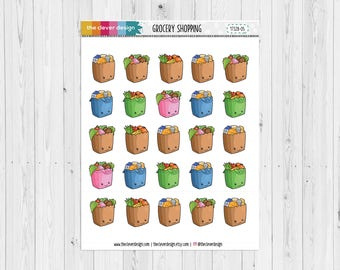 Grocery Shopping | Shopping | Kawaii Grocery Bags | Grocery Bags | 17328-05