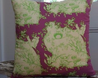 Tina Givens for Free Spirit Opal Owl collection Opal's House Violet cushion cover/pillow 45cm