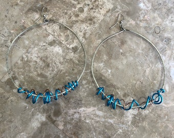 Blue copper hoops