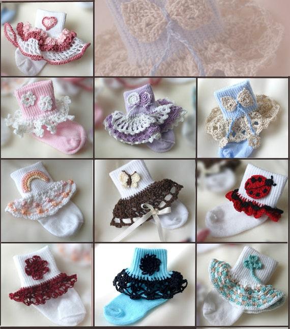 Crochet Sock Trim Pattern Crochet Applique Pattern Crochet