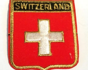 Free Shipping! Switzerland Vintage Cloth Patch Clean