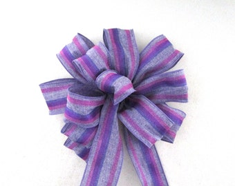 Purple Bow, Tree Topper Bow, Wreath Bow, Bow Topper, Purple Bow, Christmas Tree Decoration