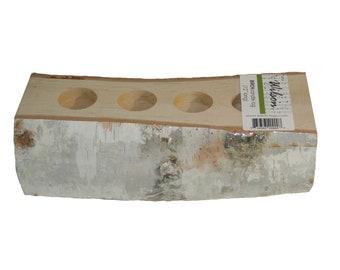 White Birch Cut Candle Log