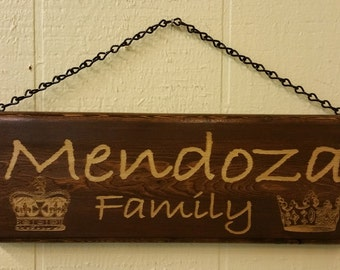 Personalized Pine wood sign.  Have your text only engraved or add  photo, Logo or Clip Art engraved