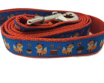 Dog Leash, Fox, 1 inch wide, 1 foot, 4 foot, or 6 foot