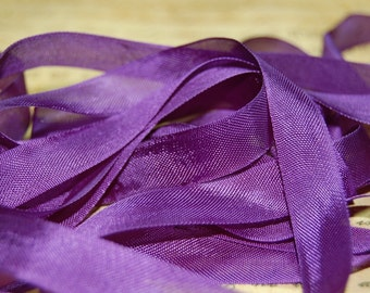Deep Violet  Vintage Seam Binding Ribbon