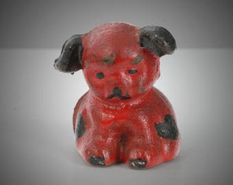 Hubley Griswold cast iron red black puppy paperweight